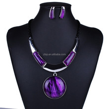 Factory Price Jewelry Sets Celebrity Inspired Resin Necklace Earrings Set For Women Gift
