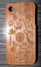 Bamboo wooden cell phone case,cell phone wood case with wood grain