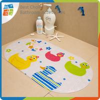 PVC duck design anti slip shower mat