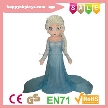 Funny kid toys!!!Elsa dress cosplay costume,Hot cartoon frozen adult elsa mascot costume,Movie frozen Elsa cartoon mascot