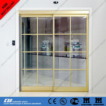 Automatic interior residential door with battery