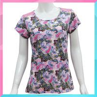 custom design fashion printed women t-shirt