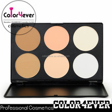 6 color face powder foundation palette,silky mineral powder for face makeup