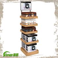 Hot Sale TASSIOM Coffee Display Merchandise Display Free Standing Shelves