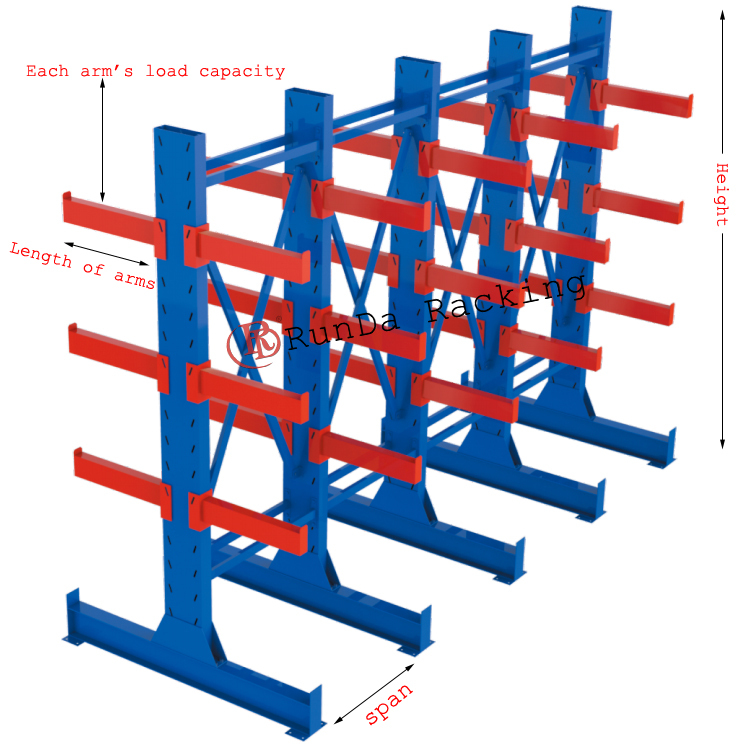 Wholesale Rd Warehouse Storage Pipe Cantilever Rack
