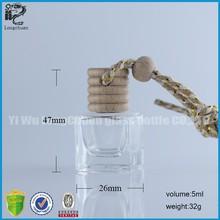 MOQ 1000pcs 6ml empty square glass bottle for cologne/oil