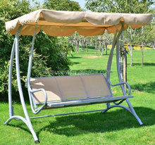 Covered Outdoor Patio Swing Bench with Frame