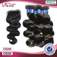 14,16,18 12 Inch Free Shipping 6A Hair Weft And Closure Wholesale Body Wave Virgin Hair
