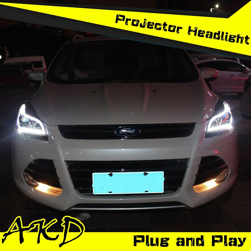 akd car styling led headlight for ford kuga1 headlights. Black Bedroom Furniture Sets. Home Design Ideas