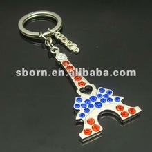 Best selling Metal Crystal keychain 2012