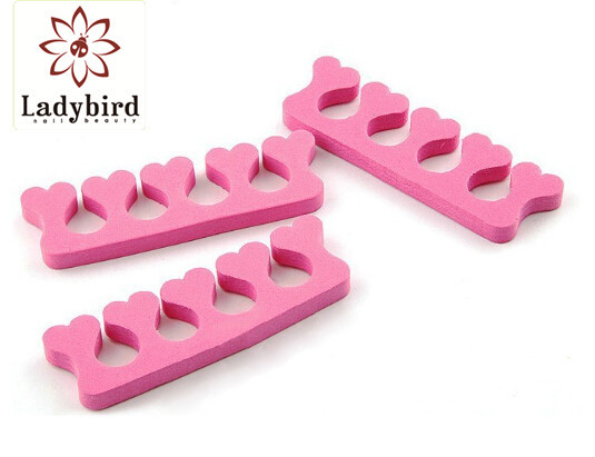 Ladybird Different Toe Separator Foam Finger Nail Care Tools And