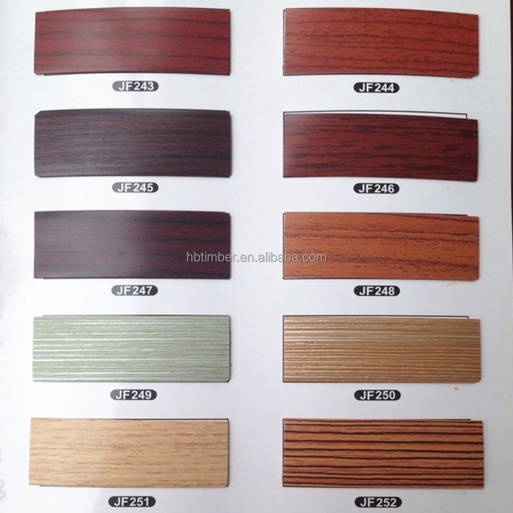 Wenge color melamine laminated wood grain furniture for Abs trimming kitchen cabinets