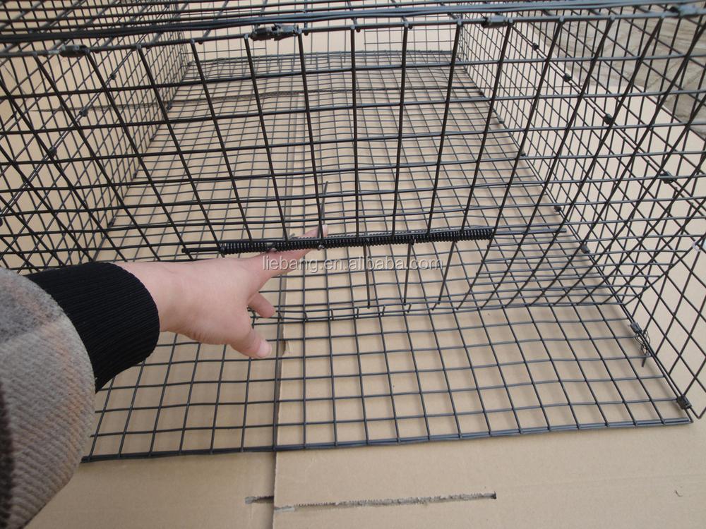 Noir couleur pliable oiseau pi ge cage pour pigeons magpies corbeau lutte antiparasitaire id - Piege a pigeon ...