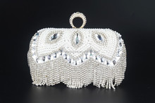 monster head ladies beaded bags and wallets with crystal high quality gift bag