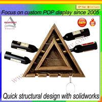 Modern design bottle display shelf/bottle display rack
