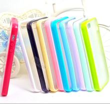 Lovely Color Scrub TPU+PC Transparent Edge Cell Phone Cases Cover For iphone 5 5s Cases Shell 5S/5