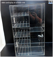 custom acrylic e cigarette display stand lockable electric smoke accessory display