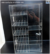 custom acrylic e cigarette display stand lockable electric smoke accessory display