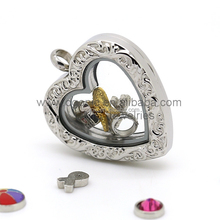 wholesale fashion DIY Stainless Steel floating Charms Locket Pendant