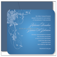 blue lower price acrylic wedding invitation for party