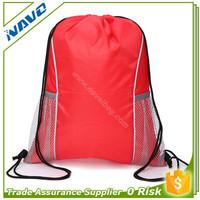 Multifunctional Drawstring Bag with Mesh Pockets