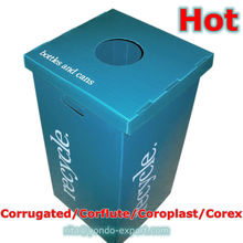 Light-Weight Corrugated Plastic Recycling Containers, Recycling Bins