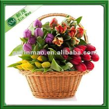 lucky fortune rattan flower basket for gift