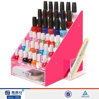 new fashion style clear pmma nail polish storage case