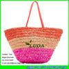 LUDA Fashion Cornhusk Straw Handbags Colorful Straw Shoulder Bag