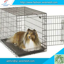 High quality portable foldable metal pet cage dog carrier
