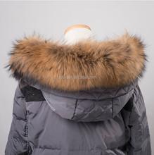 QC9338 natural raccoon dog fur trim trimming for hood