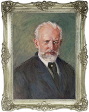 Portrait of Tchaikovsky , Painting, Oil Handmade Painting