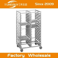 Customized Commercial bakery display steel rack in dubai with heat-resistant wheels manufacture