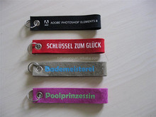 promotional keychains/handmade keychain toy/custom embroidered keychain