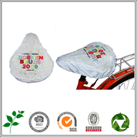 Free Sample, White Waterproof PVC Bike Seat Covers/Bicycle covers Saddle cover