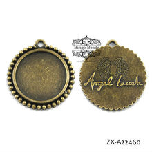 Angel Touch Wings Round Cabochon Setting 25mm