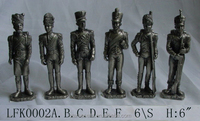 Home decoration hand-paint European medieval armor soldier knight pewter figurines