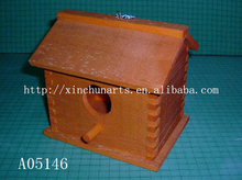 hanging wooden bird nest /wooden bird cage
