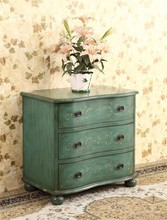 Bedroom furniture Solid wood three ark Store content ark is pure and fresh and bedside table Ark of coloured drawing or pattern
