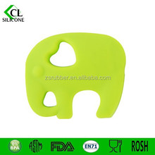 elephant shaped soft plastic baby teether silicone pendant teether