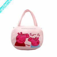 Plush Lovely Pink Pig Pattern Wholesale Handbag Brand