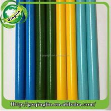 Straight and durable painted round wood poles for garden tools handle