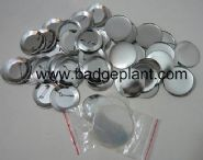 56mm newest promotional blank metal button badge component for button badge machine