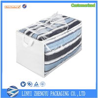 clear pvc bag store extra pillows, linens, or clothing
