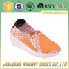 Handwoven Elasticized Fabric Women Wedge Shoe Soft Footwear