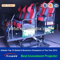 electric 2 DOF system 4 seats cinema chair & hot sale 5d cinema 5d theater