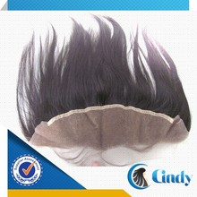 wholesale top quality ear to ear remy human hair cheap lace front closure piece