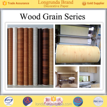 Cool design Perfect Quality Colorful Wood grain elegant decorative paper for furniture made in china