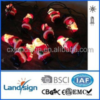 XLTD-134 miniature garden solar powered led light/ solar festival light with Santa Claus