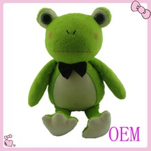 Custom cute plush frog animal sounds toys
